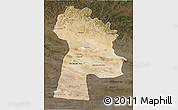 Satellite 3D Map of Bayanhongor, darken