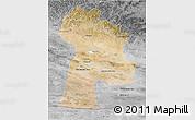 Satellite 3D Map of Bayanhongor, desaturated