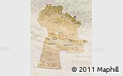 Satellite 3D Map of Bayanhongor, lighten