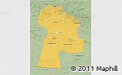 Savanna Style 3D Map of Bayanhongor