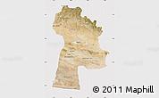 Satellite Map of Bayanhongor, cropped outside