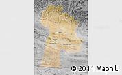 Satellite Map of Bayanhongor, desaturated