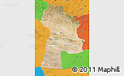 Satellite Map of Bayanhongor, political outside