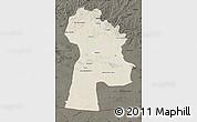 Shaded Relief Map of Bayanhongor, darken