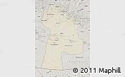 Shaded Relief Map of Bayanhongor, semi-desaturated