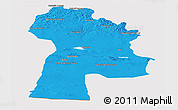 Political Panoramic Map of Bayanhongor, cropped outside