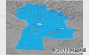 Political Panoramic Map of Bayanhongor, desaturated