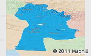 Political Panoramic Map of Bayanhongor, lighten
