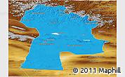 Political Panoramic Map of Bayanhongor, physical outside