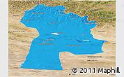 Political Panoramic Map of Bayanhongor, satellite outside