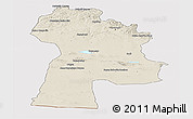 Shaded Relief Panoramic Map of Bayanhongor, cropped outside