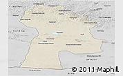 Shaded Relief Panoramic Map of Bayanhongor, desaturated