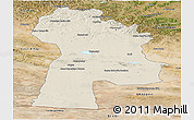 Shaded Relief Panoramic Map of Bayanhongor, satellite outside