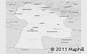 Silver Style Panoramic Map of Bayanhongor