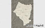 Shaded Relief Map of Bulgan, darken