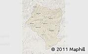 Shaded Relief Map of Bulgan, lighten