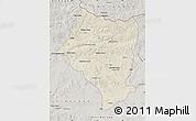 Shaded Relief Map of Bulgan, semi-desaturated