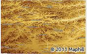 Physical Panoramic Map of Bulgan