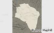 Shaded Relief Map of Govi-Altay, darken