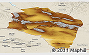 Physical Panoramic Map of Govi-Altay, shaded relief outside