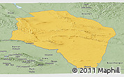 Savanna Style Panoramic Map of Govi-Altay