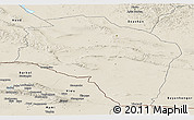 Shaded Relief Panoramic Map of Govi-Altay