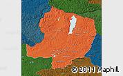 Political Map of Hovsgol, darken