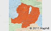 Political Map of Hovsgol, lighten
