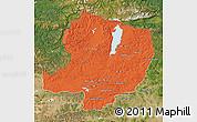Political Map of Hovsgol, satellite outside