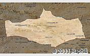 Satellite Map of Omnogovi, darken
