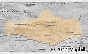 Satellite Map of Omnogovi, desaturated