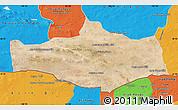 Satellite Map of Omnogovi, political outside