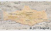 Satellite Map of Omnogovi, semi-desaturated