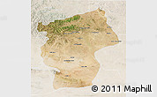 Satellite 3D Map of Ovorhangay, lighten