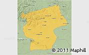 Savanna Style 3D Map of Ovorhangay