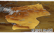 Physical Panoramic Map of Ovorhangay, darken