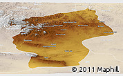 Physical Panoramic Map of Ovorhangay, lighten
