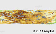 Physical Panoramic Map of Mongolia
