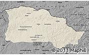 Shaded Relief Map of Selenge, darken, desaturated
