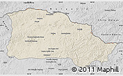 Shaded Relief Map of Selenge, desaturated