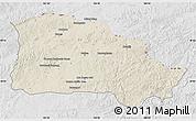 Shaded Relief Map of Selenge, lighten, desaturated
