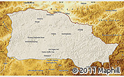 Shaded Relief Map of Selenge, physical outside