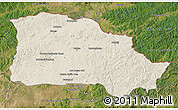 Shaded Relief Map of Selenge, satellite outside