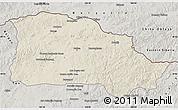 Shaded Relief Map of Selenge, semi-desaturated