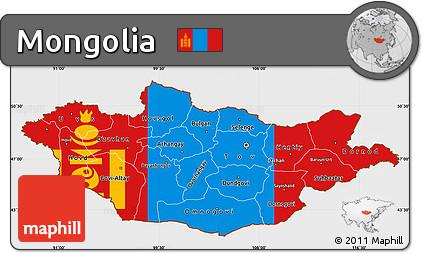 mongolia flag coloring page - free flag simple map of mongolia single color outside