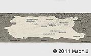 Shaded Relief Panoramic Map of Tov, darken