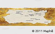 Shaded Relief Panoramic Map of Tov, physical outside