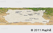 Shaded Relief Panoramic Map of Tov, satellite outside