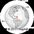 Outline Map of Montserrat
