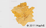 Political Shades 3D Map of Centre Nord, cropped outside